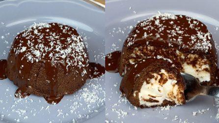 Mini chocolate cake: the light version to try