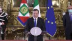 """Le prime parole di Draghi dopo l'incarico di Mattarella: """"È un momento difficile, ma sono fiducioso"""""""