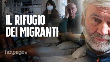"""Il rifugio dei migranti sul confine italo francese: """"Abbiamo visto molti morire di freddo"""""""