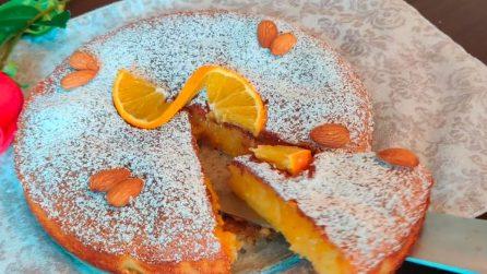 White chocolate and orange sponge cake: the delicious recipe