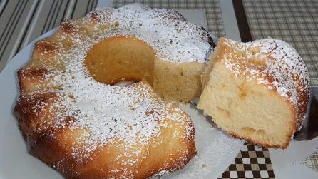 Sponge lemon donut: the easy recipe to make a delicious dessert