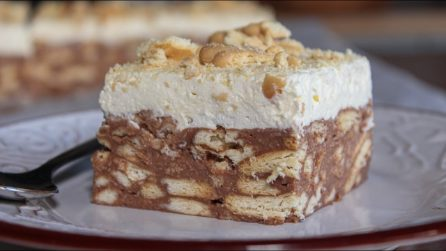 Biscuits chocolate cake: the creamy dessert without oven