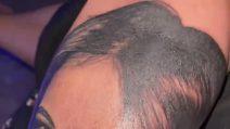 Ciro Immobile si tatua il volto della moglie Jessica