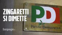 """Zingaretti si dimette, Orlando: """"Ci ripensi"""". Salvini: """"Spero no problemi per il governo"""""""