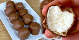 Greek yogurt truffles: ready with 3 ingredients!
