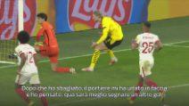 Haaland rivive il secondo gol al Siviglia, tra Var e rigori
