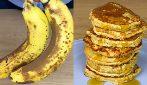 Pancakes con 3 ingredienti: il modo geniale per utilizzare le banane mature!