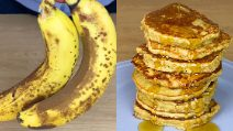Oatmel banana pancakes: ready with 4 ingredients!