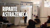 """Milano, tra code e attese riparte la vaccinazione AstraZeneca: """"Qualche dubbio c'è ma ci vacciniamo"""""""