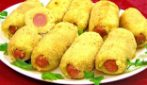 Potato rolls with wurstel: a tasty meal very easy to prepare