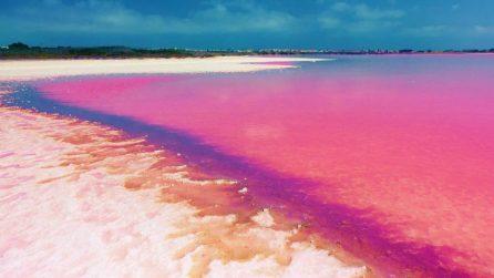 Esiste un lago completamente rosa, un posto unico al mondo