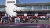 Motogp in Qatar, un minuto di silenzio in memoria di Fausto Gresini