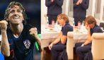 L'omaggio a Luka Modric per il record raggiunto: il calciatore si commuove