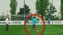 Real Madrid, che gol di Mariano! La reazione di Zidane in allenamento