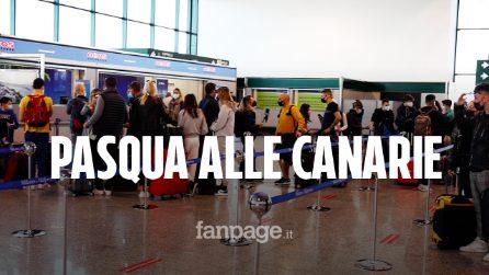 """Pasqua, migliaia di italiani in volo per la Spagna: """"Siamo stanchi, tutti hanno bisogno di staccare"""""""