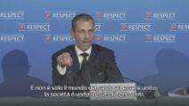 """Sport - Calcio - Superlega, Ceferin: """"Tutti uniti contro questo piano cinico"""""""