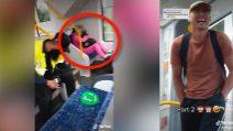 Donna sta dormendo su un treno, ragazzi le fanno uno scherzo e pubblicano il video su TikTok