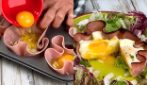Tortini di uova e prosciutto al forno: veloci e saporiti!