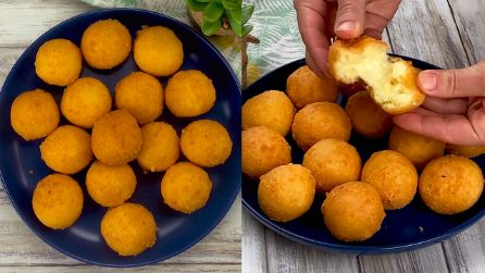 Cheese balls: stringy and so delicious!