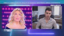"""Domenica Live, il conduttore del reality di Olesya: """"E' un'attrice, cerca la notorietà"""""""
