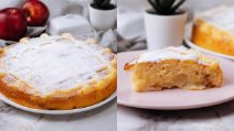 Apple pie with cream: a soft cake to try now!
