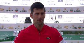 """Djokovic: """"Sinner è il presente e futuro del nostro sport"""""""