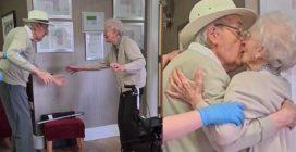 Sono sposati da 70 anni e si rivedono dopo 8 mesi a causa del virus: l'incontro è commovente