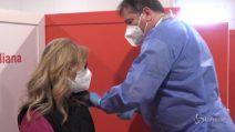 Porta di Roma: inaugurato centro vaccinale con Zingaretti, Figliuolo e Curcio