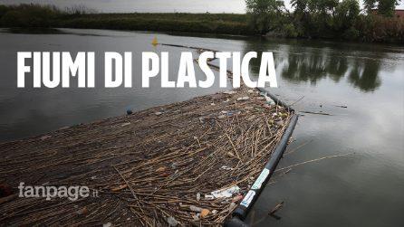 """Barriere per bloccare i rifiuti nei fiumi Tevere e Aniene: """"Basta spazzatura nei mari"""""""