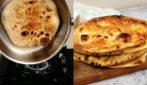 Pane in padella pieno di bolle: facile, saporito e irresistibile!