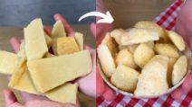 How to make 1 minute chips with parmesan rinds!