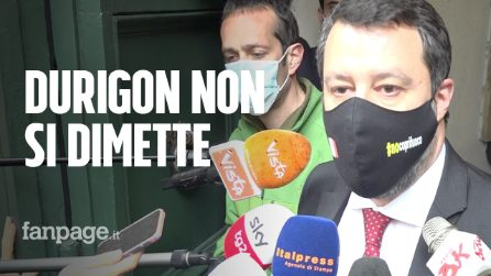 """Salvini: """"Su Durigon polemica surreale, non si dimetterà da sottosegretario"""""""