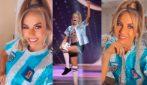 Miss Universo, l'omaggio di Miss Argentina a Diego Armando Maradona