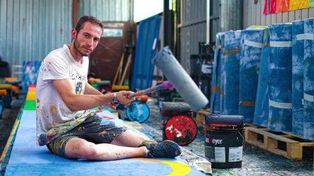 """Guinness dei primati, è di un italiano l'opera d'arte più lunga al mondo: """"Un dipinto di 5 km"""""""