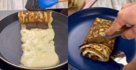 Rolls di pancake al cioccolato: perfetti per una colazione gustosa e originale!