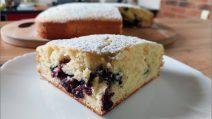Torta soffice ai mirtilli: la ricetta per una merenda piena di gusto