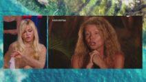 L'Isola dei Famosi - lo scontro tra Vera Gemma e Angela Melillo