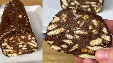 Salame al cioccolato light: senza cottura, facile e con poche calorie!