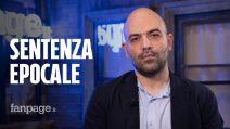 """Saviano a Fanpage.it: """"Sentenza non mi restituisce 13 anni di vita, ma dà senso al mio passato"""""""