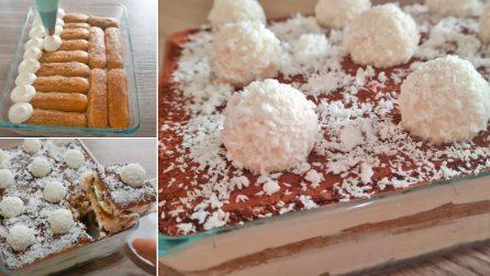 Tiramisù cioccolato e cocco: la ricetta gustosa senza uova