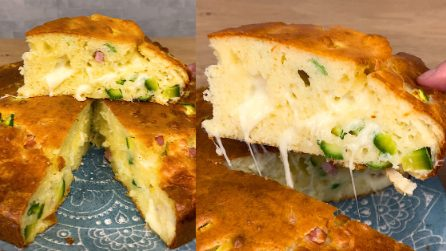 Moist easy savory cake recipe made without scale: fluffy and easy to make!