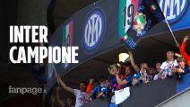 Inter campione d'Italia, la festa Scudetto con migliaia di tifosi a San Siro