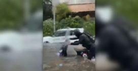 A Roma bomba d'acqua su Corso Francia, strade come fiumi