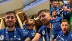 Jorginho ed Emerson Palmieri, gli italiani campioni d'Europa: le immagini della festa