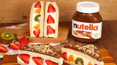 Fruit Sando con Nutella®: il dolce giapponese fresco, facile e super goloso!