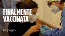 """La gioia di Silvia, maturanda vaccinata: """"Non ci credevo, finalmente tocca a me"""""""