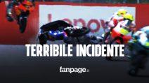Brutto incidente in Moto3 nel GP della Catalogna: Sasaki colpito dalla moto di Foggia