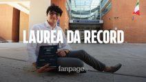 """Francesco, 22 anni, laureato record in Legge: """"Una fortuna studiare in un bell'ambiente"""""""