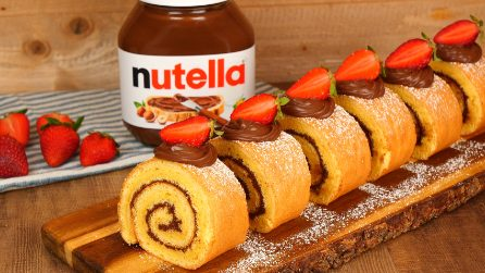 Rotolo giapponese con Nutella®: la ricetta del dolce soffice e super goloso