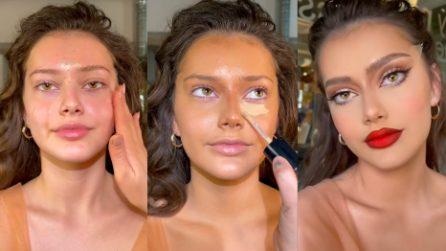Prima e dopo, la trasformazione dopo il make up è evidente